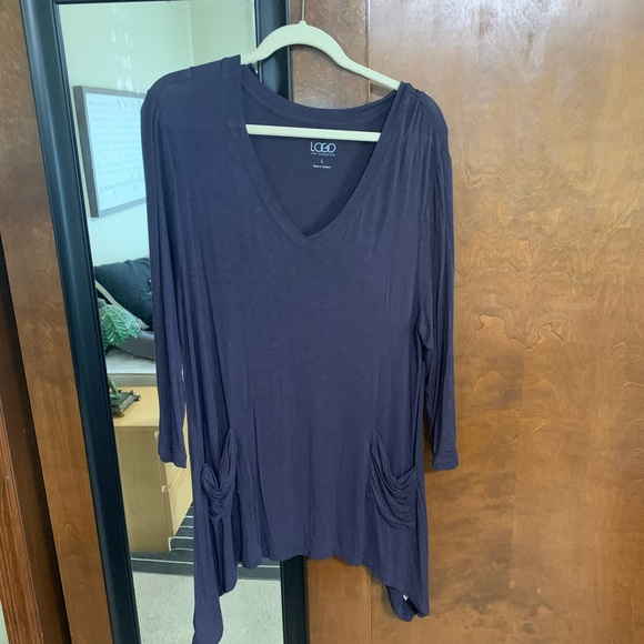 LOGO by Lori Goldstein Tops - LOGO flowy shirt with pockets size large